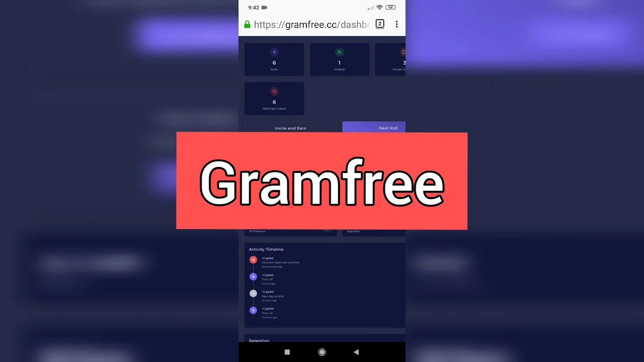 ได้เงินจริง Gramfree | งานออนไลน์ได้เงินจริง 2020 | ถอนเงิน gramfree #gramfree