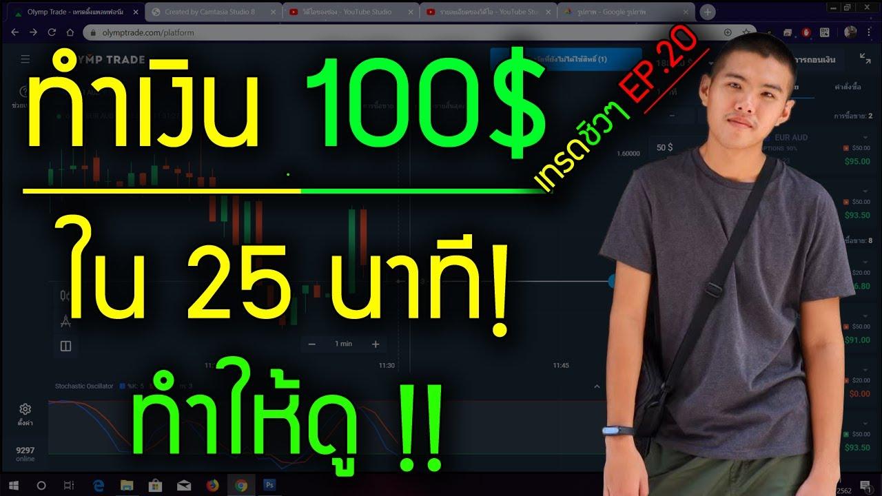 สอนหาเงินออนไลน์ 100$ ใน 25 นาที!! – สมัครฟรี! ได้เงินจริง100%